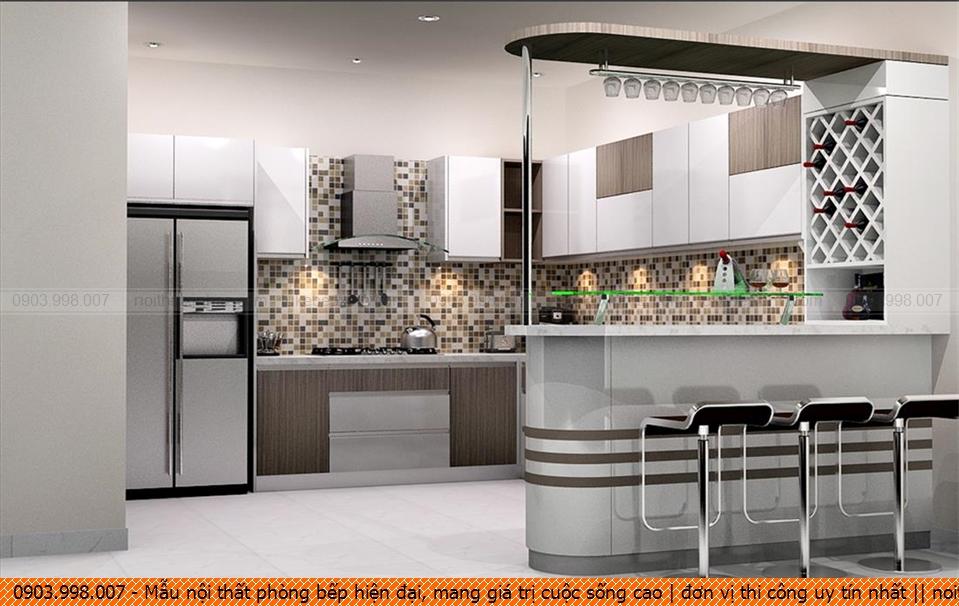 Mẫu nội thất phòng bếp hiện đại, mang giá trị cuộc sống cao | đơn vị thi công uy tín nhất